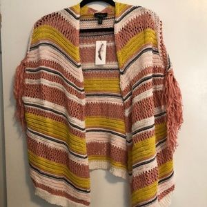 Jessica Simpson blanket stripe sweater